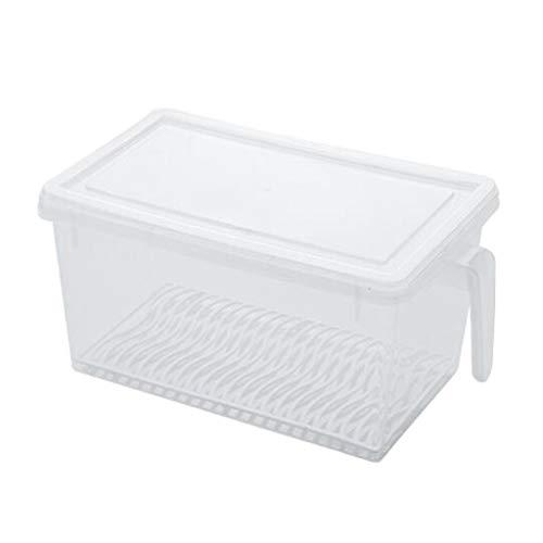 Fenteer Kühlschrankbox mit Deckel Vorratsdose Aufbewahrungsbox Stapelbox für Kühlschrank und Gefriertruhe - L