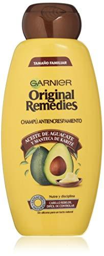 Garnier Original Remedies - Champú con Aceite de Aguacate y Manteca de Karité para Pelo Rebelde y Escrespado - 600 ml