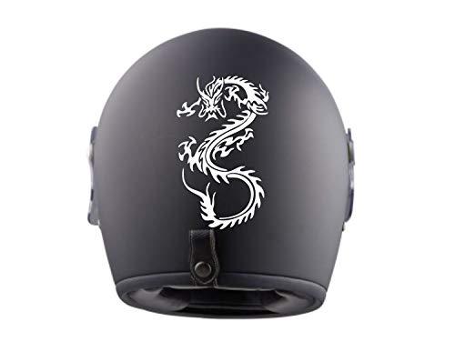 myrockshirt 2X Aprilia Drache Tribal Helmaufkleber Helm Motorrad Aufkleber Sticker Decal Profi-Qualität ohne Hintergrund Bike Tuning