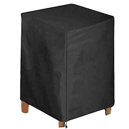 Cubierta de Muebles de Jardin 60x60x60cm, Funda para Muebles de Patio Impermeable, Silla protección Capa Nieve Duradera Oxford Tejido Exterior Resistente al Polvo, Negro,Black
