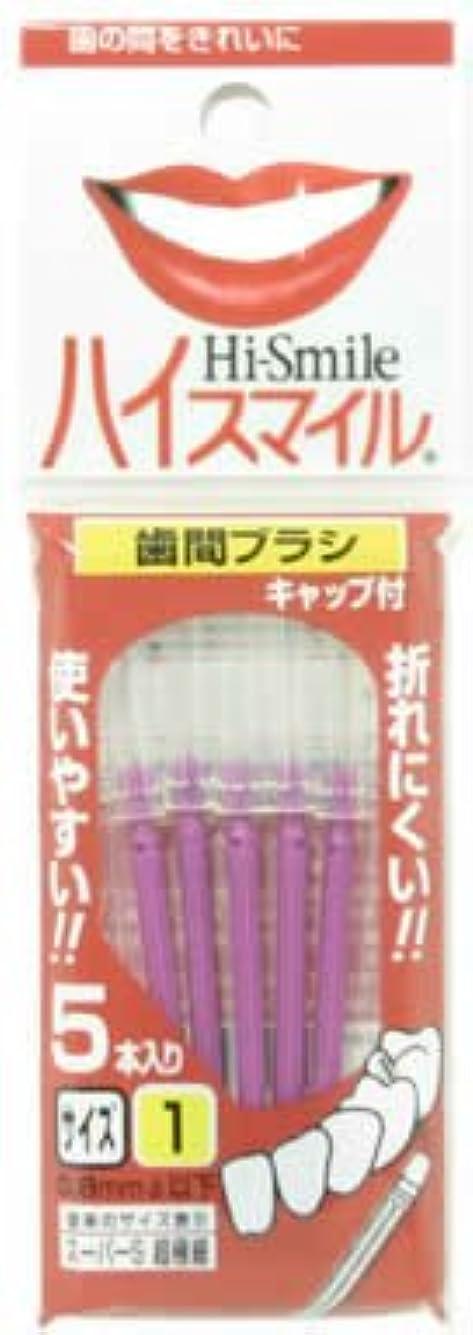 排除複合平均ハイスマイル歯間ブラシ サイズ1超極細 5本入パープル