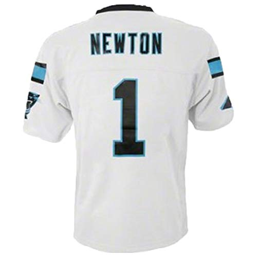 Cam Newton Carolina Panthers #1 White Youth Away Mid Tier Jersey (Youth Large 14/16)