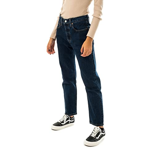 Levi's Womens 501 Crop Jeans, Salsa Stonewash, 29W / 26L