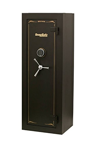 SnapSafe Tall Titan Digital Modular Safe, Storage for Firearms and Valuables for Home or Office, Security Gun Safe with Electronic Lock, Fire Protection, Measures 59'H x 22'W x 17.5'D- Matte Black