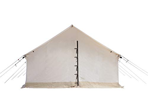 WHITEDUCK Alpha Canvas Wall Tent – Waterproof 4 Season Outdoor Camping & Hunting Tent w/Heavy Duty...