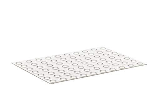 Home Xpert 70 Stück Schutzpuffer Clear Linse, Anschlagpuffer, Möbelpuffer, Anschlagdämpfer, transparent, selbstklebend, Ø 6,4 mm, Höhe: 1,9 mm
