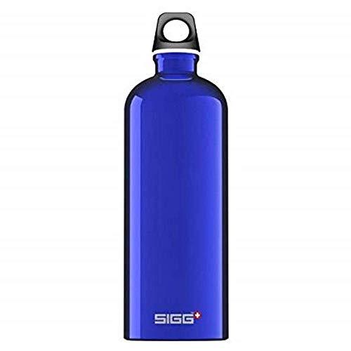 SIGG Traveller Dark Blue Trinkflasche (0.6 L), schadstofffreie und auslaufsichere Trinkflasche, federleichte Trinkflasche aus Aluminium