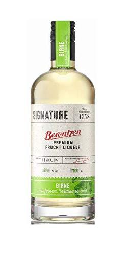 3 Flaschen Berentzen Signature Birne Premium Fruchtl Liquer mit feinem Williamsbrand verfeinert 25% Vol.