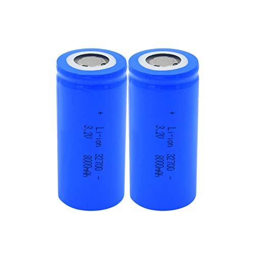 hsvgjsfa Batería De Iones De Litio De 3.2v 32700 8000mah, Equipo De Energía Solar Recargable, CéLulas De Repuesto para Scooter EstéReo 2Pieces