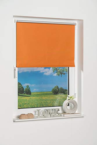 K-Home Klemmfix Mini Store occultant, Tissu, Orange, 40 x 150 cm