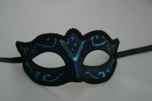 The Good Life Vénitien Masque de Mascarade Partie des Yeux Masque Turquoise Bleu et Noir