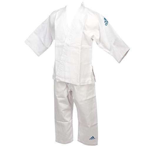 AdidasJ181 –Kimono de judo de iniciación para niño, judo, color blanco, tamaño 100
