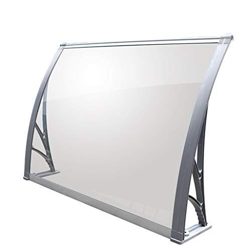 Polycarbonaat overkapping, transparant PC-Endurance-Board, buitenluifel van aluminiumlegering ter bescherming tegen zonlicht/regen en sneeuw.