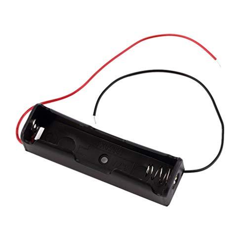 YLWL Scatole Porta batterie Portatili in plastica per batterie 18650 3.7V Nere