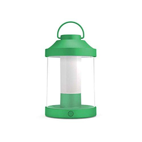 Philips myGarden LED Laterne Abelia, warmweißes Licht, dimmbar, inkl. USB Anschluss, grün, für Balkon und Terrasse