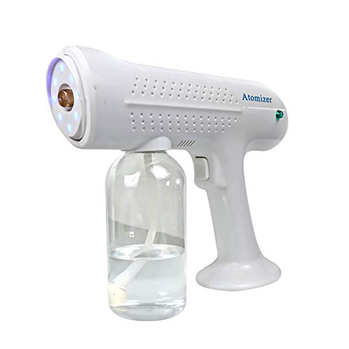 GYAM Atomizer Machine Handheld Disinfection Steam Gun Nano Fogging Disinfectant with USB Rechargeable,for Hotel Restaurant Family Hospitals Schools(500ml),White