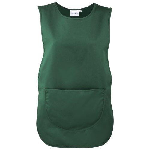 Premier Damen Arbeitsschürze mit Tasche (2 Stück/Packung) (2XLarge) (Flaschengrün)