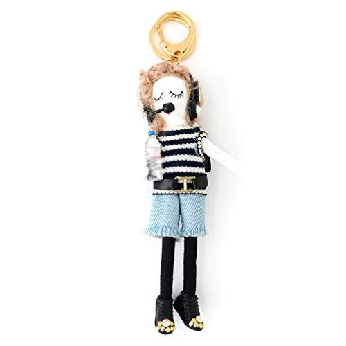 バッグチャーム 大人 かわいい オシャレレディードールチャーム レース ビジュー サングラス 人形 大人 キーホルダー 女の子 アフロ バックチャーム レディース レデイース キ-ホルダ- バッグ チャ-ム vnsa-c493 (H)