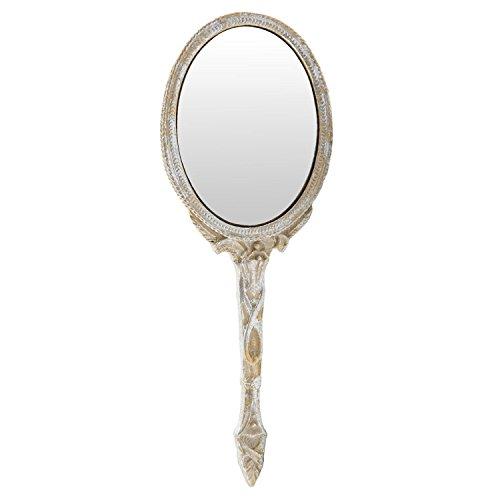 Clayre & Eef 62S093 Handspiegel/Kosmetikspiegel 8 * 1 * 22 cm