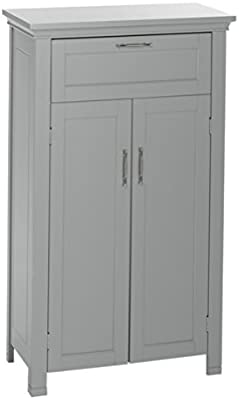 Amazon Com White 24 Inch 2 Door Storage Cabinet Kitchen