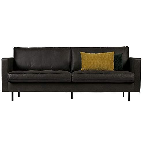 De Eekhoorn 2,5 Sitzer Sofa Rodeo schwarz Lounge Couch Leder Loungesofa Couchgarnitur