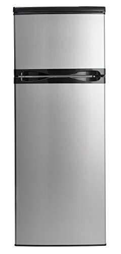 Danby DPF073C1BSLDD Designer 7.3 cu.ft. Two Door Apartment Size Refrigerator, Steel Idaho