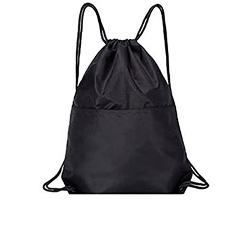 ZNQPLF Bolsa De Aptitud con Cremallera Impermeable Bolsilla De Compras De Mochila Plegable (Color : Black)