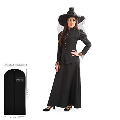WOOOOZY Damen-Kostüm Hexe Misty, Gr. 42 - inklusive praktischem Kleidersack