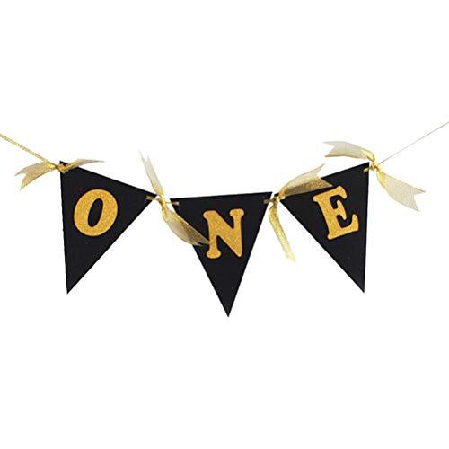 BESTOYARD Banderines de colores para bebé, para fiestas de cumpleaños, color dorado
