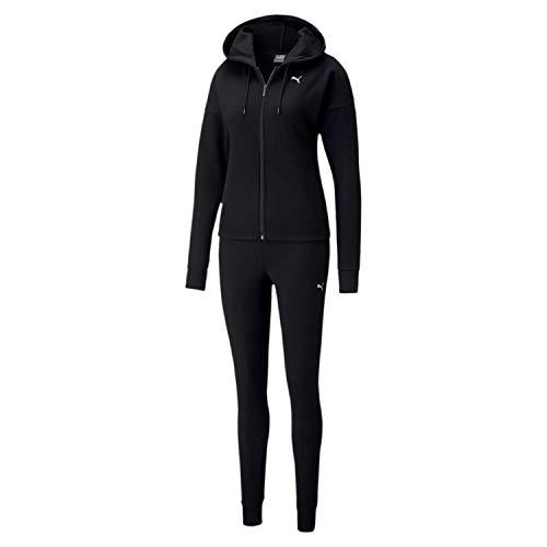 PUMA Damen Classic Hd. Sweat Suit FL cl Trainingsanzug, Black, M