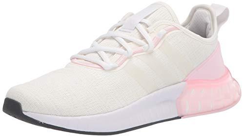 adidas Women's Kaptir Super Running Shoe, Chalk White/White/Pink, 5.5