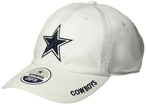 NFL Dallas Cowboys Mens Basic Slouch Cap, OSAFA, White