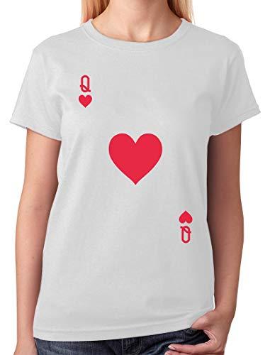 Tstars - Camiseta feminina de fantasia de Halloween da Rainha de Copas, Branco, M