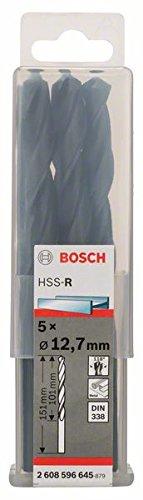 Bosch Pro Metallbohrer HSS-R rollgewalzt (5 Stück, Ø 12,7 mm)