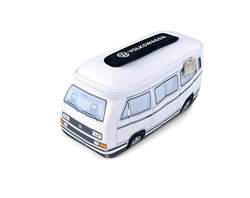 BRISA VW Collection - Volkswagen Hippie Bus T3 Camper Van Borsa Universale 3D da toilette-bagno di Neoprene, Beauty-case da Viaggio, Trousse per trucchi-make-up, Porta-pranzo, Valigeria (Bianco)