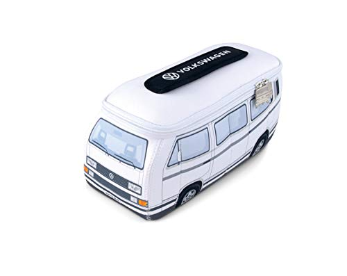 BRISA VW Collection Volkswagen VW Vanagon T3 Bus Transporter 3D Neopreen Universele Zak - Wit