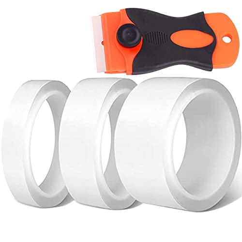 隙間テープ 30mm/20mm/10mmx5.0m すきま保護テープ 3個セット透明 強粘着 耐熱 防油 防汚 防カビ 防水 キッチン 傷防止 車ドア保護 着脱簡単 loyouve 台所コーナーテープ バスルーム 浴槽まわり ベランダ 洗面台用 透明な(外