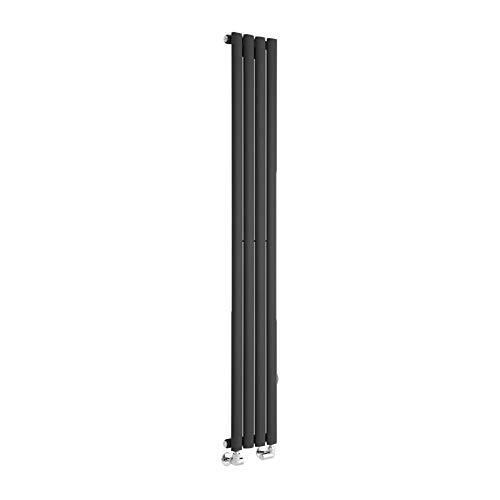 Milano Radiador de Diseño Revive Vertical - Negro - 1487W - 1780 x 590mm