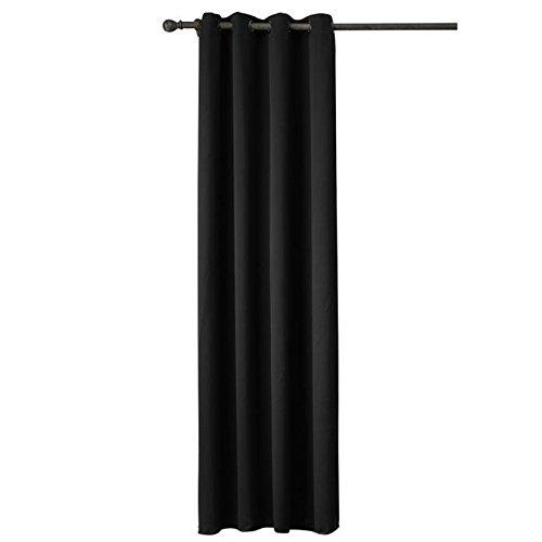 LanLan kerstcadeau, verjaardag, 1 paneel, zwart, robuust, geïsoleerd, voor ramen, ondoorzichtig, voor woonkamer, slaapkamer, zwart, 140 x 160 cm