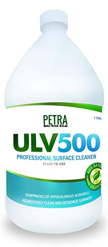 Hypochlorous Acid 500PPM (1 Gallon) For Dental And Medical Professionals, All Natural HOCL Non-Toxic Surface Cleaner For ULV Foggers, Petra
