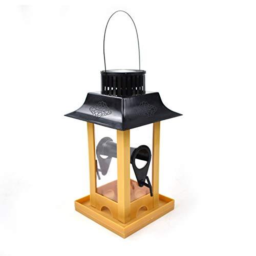Hujindong creatief outdoor zonnelicht vogelhuisje duif papegaai feeder balkon hanghaak type vogel voeder geleverd