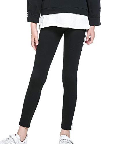 Aden Fille Pantalons Enfants Rayure Taille Élastique Tight Chaud Coton Legging Extensible (100-150CM)