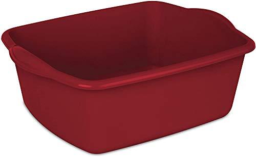 Sterilite 12QT RED Sterlite 12 Quart Dishpan Basin, 1 Pack