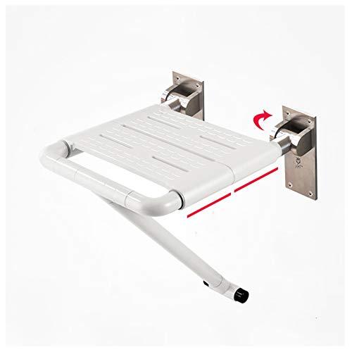 MOMD Duschsitz Klappbar Wandmontage Duschklappsitz Duschsitz Klappbar Klappsitz Dusche bis 400 lb Badestuhl Duschhocker-Duschsitz Hockerwhite