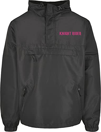 MERCHCODE Knight Rider Summer Windbreaker Chaqueta cortavientos, negro, S para Hombre