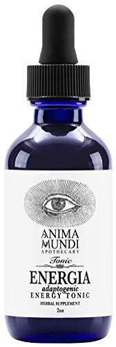 Anima Mundi Energia Adaptogenic Energy Support Tonic - Liquid Herbal Extract Supplement with Green Coffee, Guarana, Brazilian Ginseng & Rhodiola (2oz / 60ml)