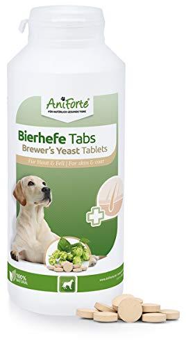 AniForte Bierhefe Hund Tabletten 500 Stück - glänzendes & kräftiges Fell, Vitale Haut, Mineralien & Vitamin B für Hunde, Allgemeine Stärkung & Förderung der Kondition, Appetit-anregend, Naturprodukt