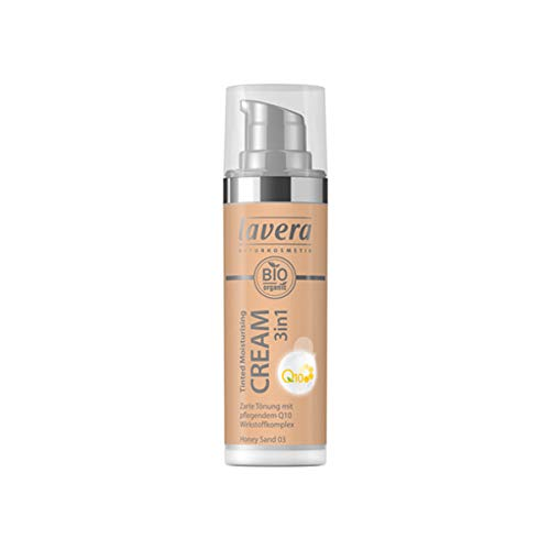 Lavera Bio Tinted Moisturising Cream 3in1 Q10 -Honey Sand 03- (6 x 30 ml)