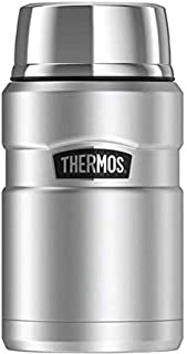 THERMOS Stainless King Food Flask, Silver, 710 ml
