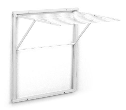 Arredamenti Italia Tendedero de Pared KLEDY, Madera - Plegable - 6,5 m Extensibles - Color: Blanco Ar-It il Cuore del Legno